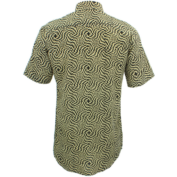 Tailored Fit Short Sleeve Shirt - Block Print - Psychedelic Shift