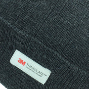 3M Beanie Hat with Fleece Lining - Charcoal Grey