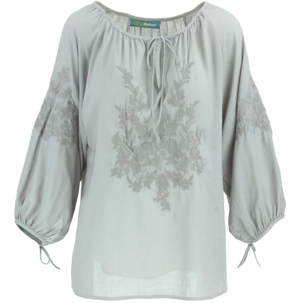 Embroidered Blouse - Powder Rose