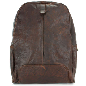 Real Leather Backpack Rucksack Bag - Brown