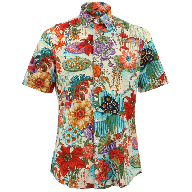 Tailored Fit Short Sleeve Shirt - Japanese Floral