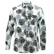 Regular Fit Long Sleeve Shirt - Mono Roses