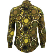 Slim Fit Long Sleeve Shirt - Retro Circles