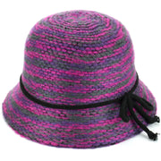 Knitted Cloche Hat - Pink
