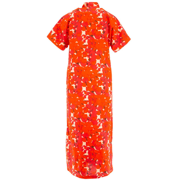 Mandarin Maxi Dress - Vibrant Orange