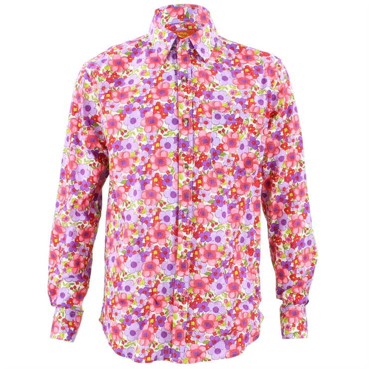 Tailored Fit Long Sleeve Shirt - Bright Summer Floral