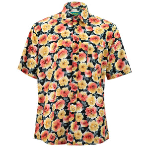 Regular Fit Short Sleeve Shirt - Blooming - Black