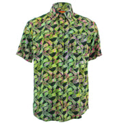 Tailored Fit Short Sleeve Shirt - Green Pineapples