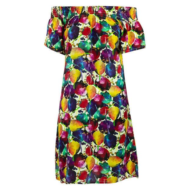 Shirred Comfy Dress - Tulips