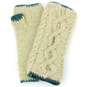 Wool Knit Arm Warmer - Cable - Cream