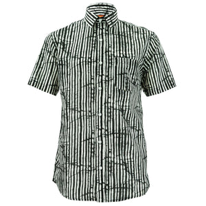 Regular Fit Short Sleeve Shirt - Lines