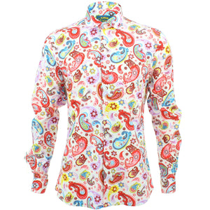 Slim Fit Long Sleeve Shirt - Paisley