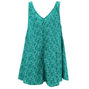 Floaty Dolly Dress - Delicate Teal Flower
