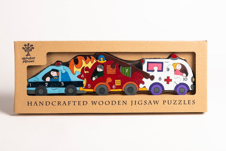 Handmade Wooden Jigsaw Puzzle - Number Emergency