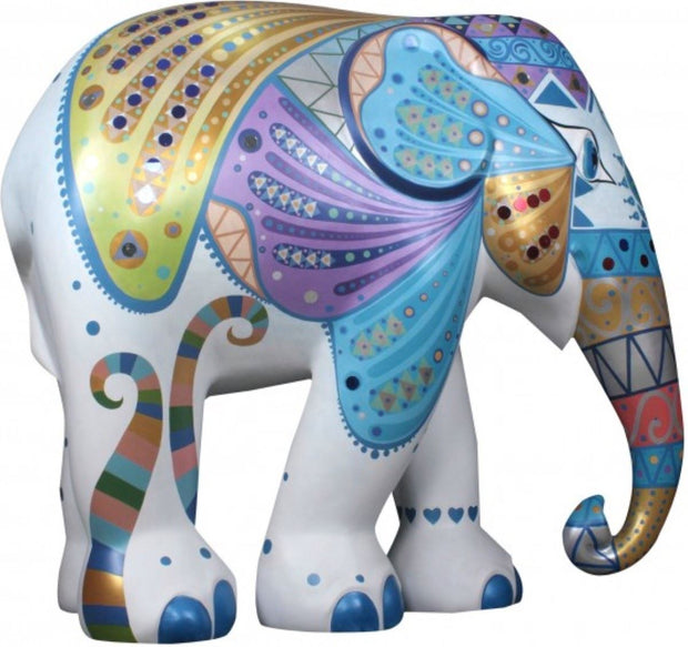 Limited Edition Replica Elephant - Mosaic Wings