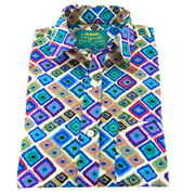 Regular Fit Short Sleeve Shirt - Squares