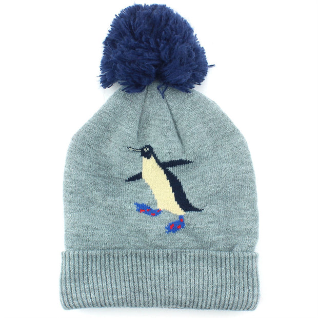 Childrens Arctic Character Beanie Hat - Penguin