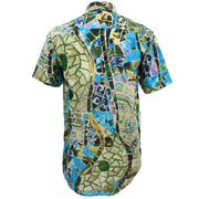 Regular Fit Short Sleeve Shirt - Mosaic Tiles