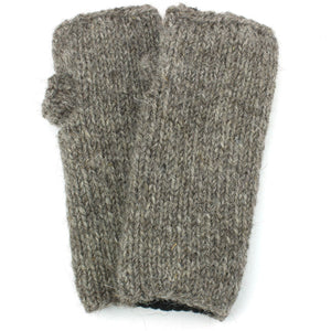 Wool Knit Arm Warmer - Plain - Oatmeal