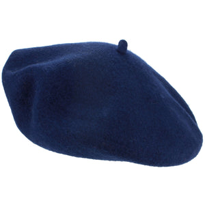 Wool Beret Hat - Navy
