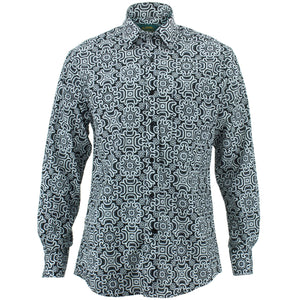 Regular Fit Long Sleeve Shirt - Tribal Fret
