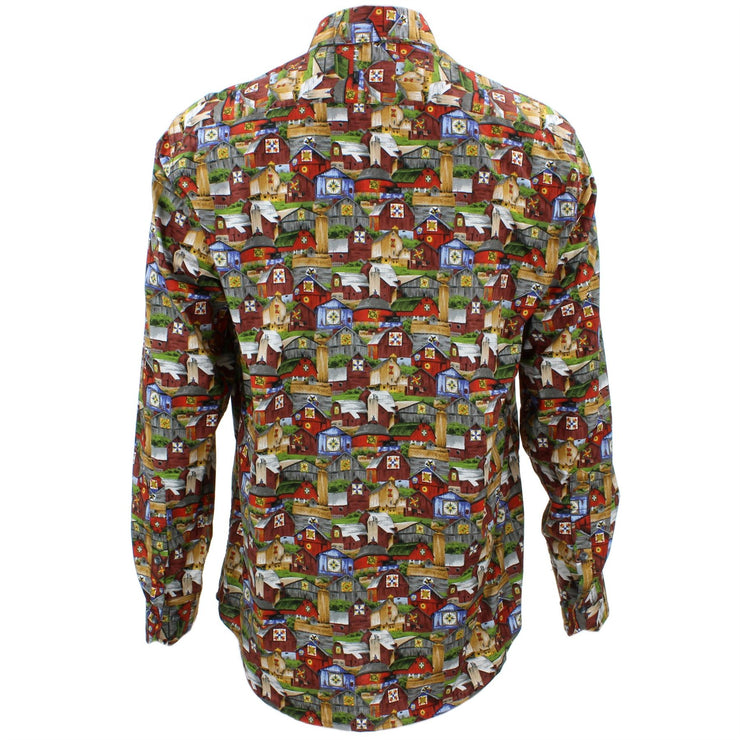 Tailored Fit Long Sleeve Shirt - Farm Buildings