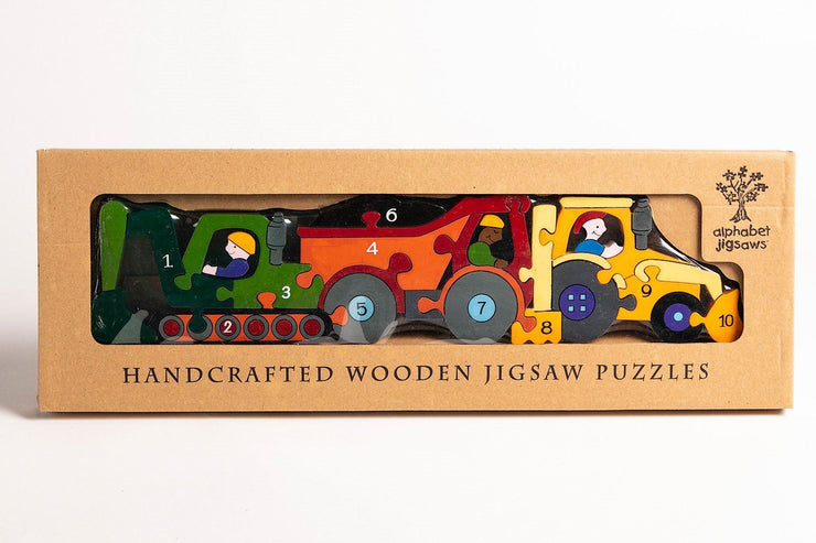 Handmade Wooden Jigsaw Puzzle - Number Construction