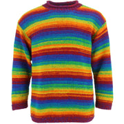 Chunky Wool Knit Jumper - Shredded Rainbow