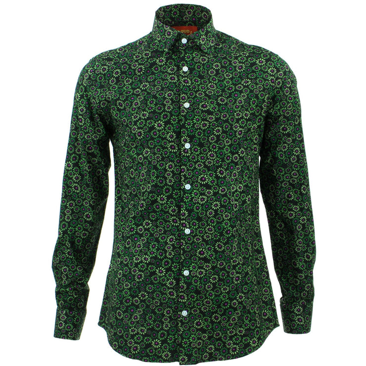 Tailored Fit Long Sleeve Shirt - Floral Burst