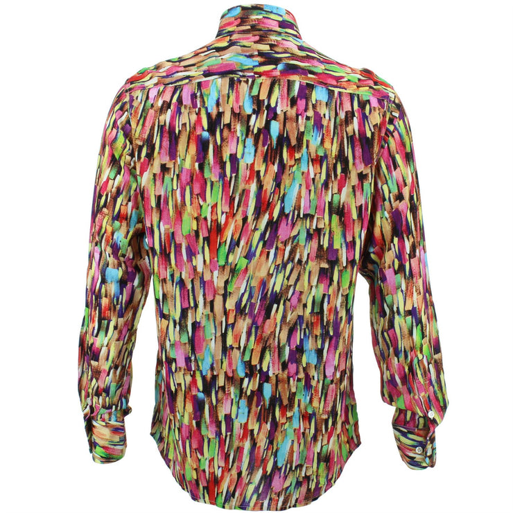 Regular Fit Long Sleeve Shirt - Brushstrokes