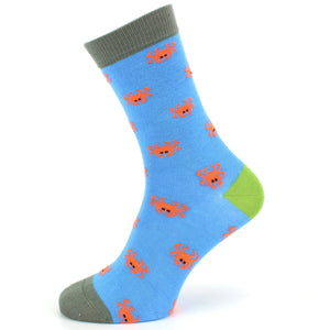 Bamboo Socks - Crabs - Blue