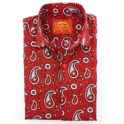 Slim Fit Long Sleeve Shirt - Block Print - Paisley