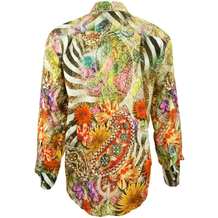 Regular Fit Long Sleeve Shirt - Floral Zebra