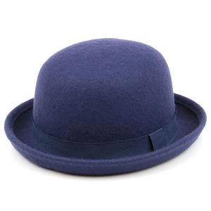 Wool felt bowler Derby hat - Blue