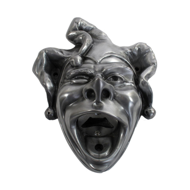 Wall Mounted Character Bottle Opener - Jester (Silver)