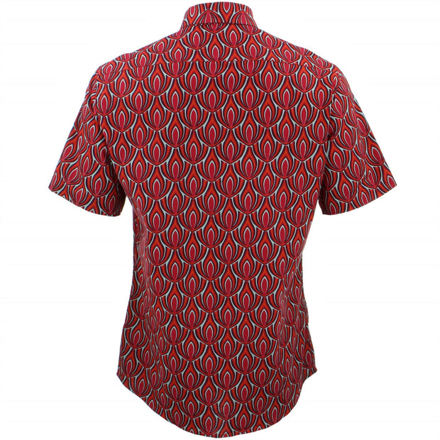 Tailored Fit Short Sleeve Shirt - Red Claw
