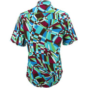 Regular Fit Short Sleeve Shirt - Abstract