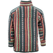 Brushed Cotton Jacket Cardigan - Black Red