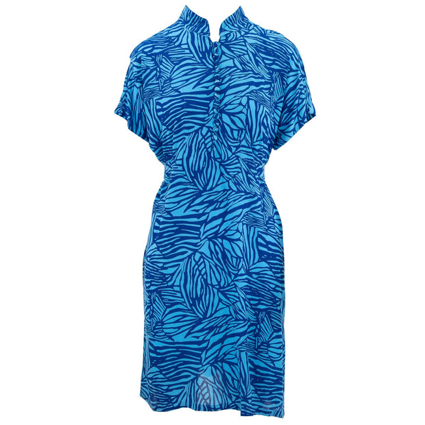 Mandarin Mini Dress - Funky Blue Zebra