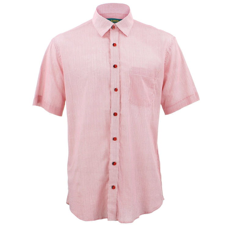 Regular Fit Short Sleeve Shirt - Pinstripe