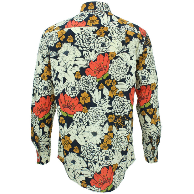 Regular Fit Long Sleeve Shirt - Japanese Floral