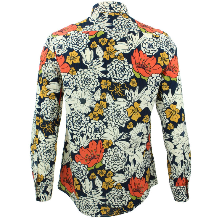 Tailored Fit Long Sleeve Shirt - Bold Japanese Floral
