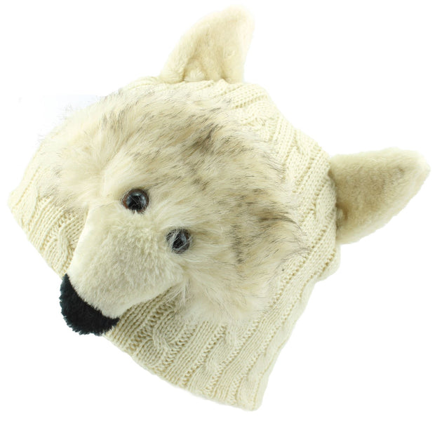 Childrens Character Beanie Hat - Wolf