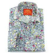 Tailored Fit Long Sleeve Shirt - Floral Sketch