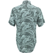 Regular Fit Short Sleeve Shirt - Mono Paisley