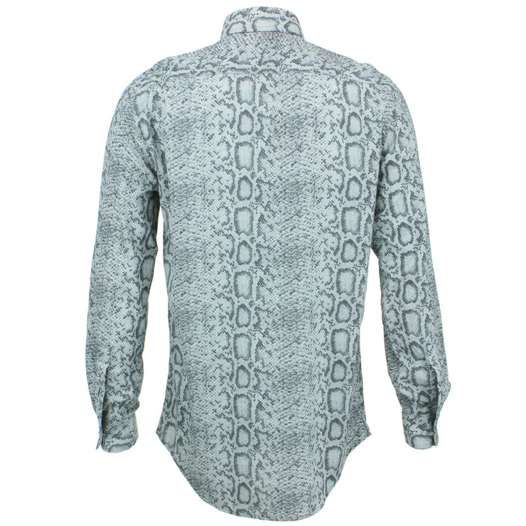 Slim Fit Long Sleeve Shirt - Snake Skin