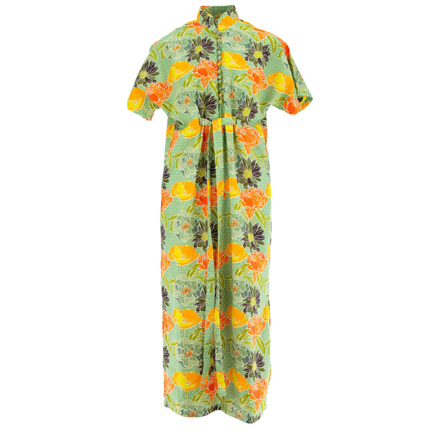 Mandarin Maxi Dress - Retro Floral