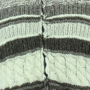 Chunky Wool Multi Knit Hoodie - Natural