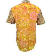 Regular Fit Short Sleeve Shirt - Random Mixed Batik - Orange