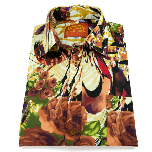 Regular Fit Short Sleeve Shirt - Floribunda